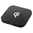 Qi Standard-Dual-USB Wireless Charger + Receiver - Schwarz