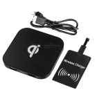 Qi Standard Dual USB Wireless Charger + Receiver - Black