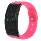 "F2 Smart Bluetooth V4.0 0.8"" Watch Bracelet w/ Alarm Clock / Sleep Monitor - Deep Pink + Black"