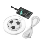 Soccer Pattern Qi Wireless Charger / Receiver Module - Transparent