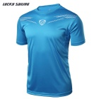 Lucky Sailing LS01 Men's Short-Sleeved T-Shirt - Light Blue (M)