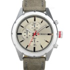 CURREN PU Leather Band Quartz Analog Wrist Watch - Silver + Grey (1 x 626)