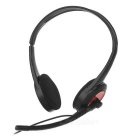 SENICC ST458N 3.5mm Wired Headband Headset w/ Mic. for Laptop / Cellphone / Computer - Black + Red