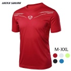 Lucky Sailing LS01 Men's Polyester Short Sleeved T-shirt - Red (XXL)