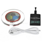 Soccer Pattern Qi Wireless Charger / Receiver Module - Multicolored