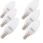 Youoklight E14 3000K 380lm bulbo blanco caliente de la vela de 4W SMD LED (6PCS)