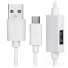 3-in-1 OTG USB Cable w/ Data Transfer / Charging Function for Phone / Tablet PC - White
