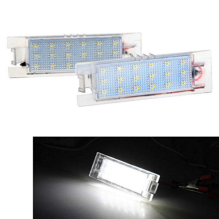 Qook 1.44W White LED License Plate Lamp for OPEL Zafira B/Astra (2PCS)