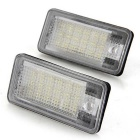 Qook White 18-LED License Plate Light for AUDI A3/S3 A4/S4 B6 (2PCS)