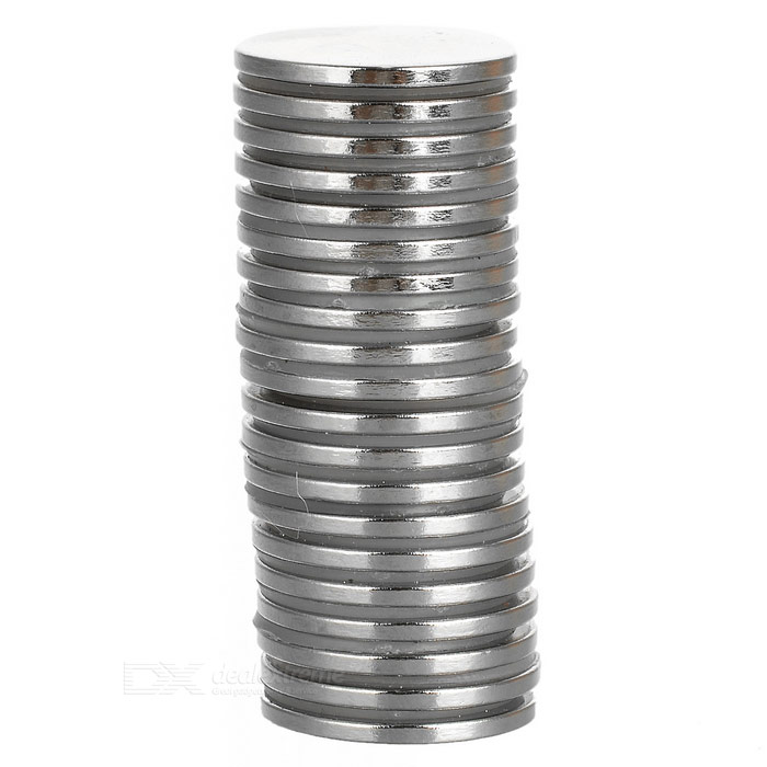 22*2mm Round NdFeB Magnet - Silver (20PCS)