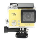 "30m Water Resistant 140 Degree 2.0"" CMOS 12MP FHD 1080P Sports DV Camera w/ Wi-Fi - Black + Yellow"