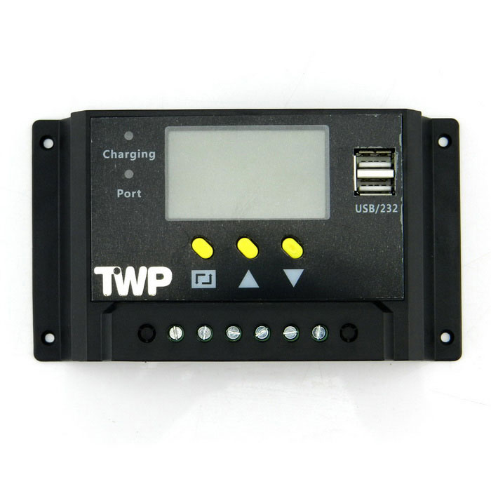 "TWP48V30A2.4""LCDPWMSolarChargeControllerwithUsb-Черный"