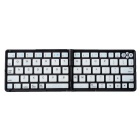 K66 + Folding LED Backlight Bluetooth V3.0 70-Tasten-Keyboard für Smart Phone und Tablet - Black + White