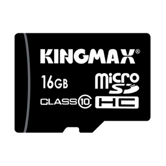 Kingmax Class 10 16GB Security Digital Micro SD / TF Memory Card - Black