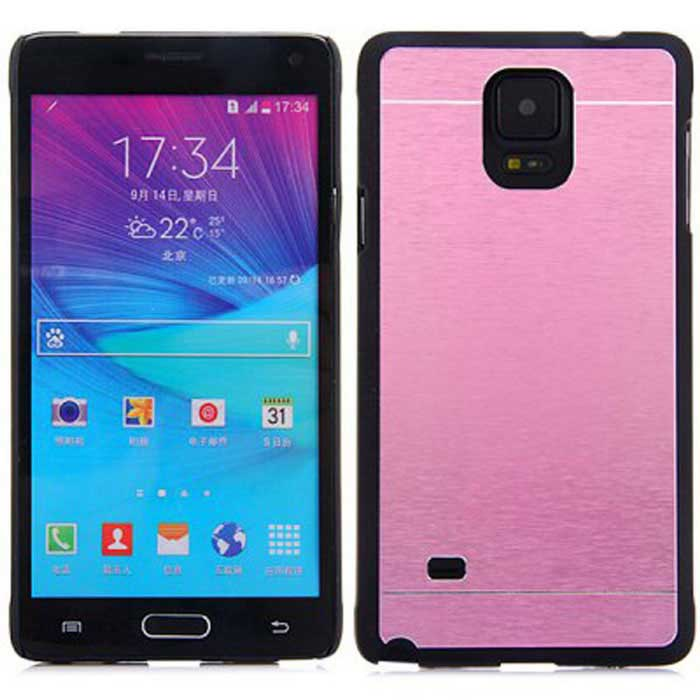 Kinston Aluminum Back Case for Samsung Note 4 - Pink + Black