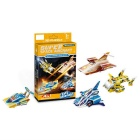 4-in-1 DIY 3D Puzzle Spaceship Toy - Orange + Blue + Yellow
