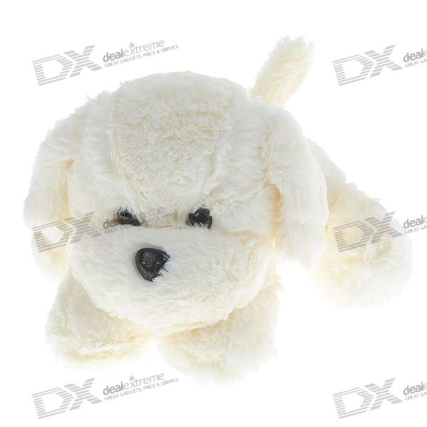 White Fragrant Plush Puppy Doll Toy - Large lovely plush toy mickey mouse toy doll large birthday gift the girl minny about 100cm