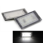 Qook 1.4W LED Car License Plate Light Lamps White 18-3528 SMD for BMW E46 2D (98-03) (DC 12V / 2PCS)
