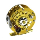 Stainless Steel Bearing Fishing Wheel Reel Gear - Golden + Silver