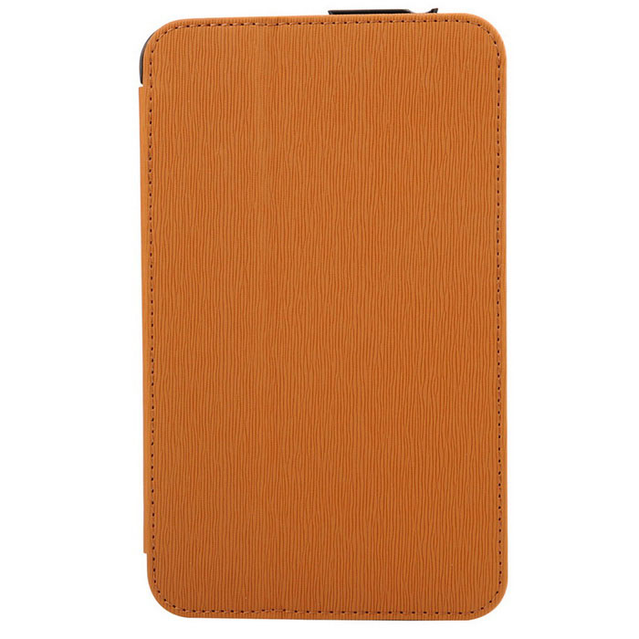 Toothpick Grain Protective Case for Samsung Tab 3 Lite - Brown