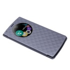 Qi Standard Wireless Charger Receiver PU Case w/ NFC for LG G4 - Gray