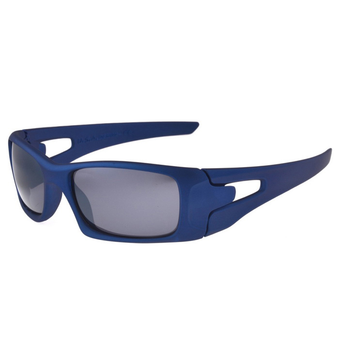 UV400 Protection PC Lens Sports Cycling Driving Sunglasses - Blue