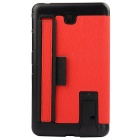 "Toothpick Grain PU Case w/ Stand for Samsung Tab 4 7"" T230 - Red"