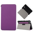 "Toothpick Grain Pattern PU + PC Case w/ Stand for Samsung Galaxy Tab 4 7"" T230 - Purple"