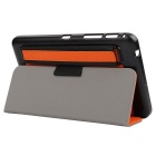 "Toothpick Grain PU Case w/ Stand for Samsung Tab 4 7"" T230 - Orange"