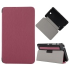 "Toothpick Grain Pattern PU + PC Case w/ Stand for Samsung Galaxy Tab 4 7"" T230 - Pink"