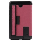 "Toothpick Grain PU Case w/ Stand for Samsung Tab 4 7"" T230 - Pink"