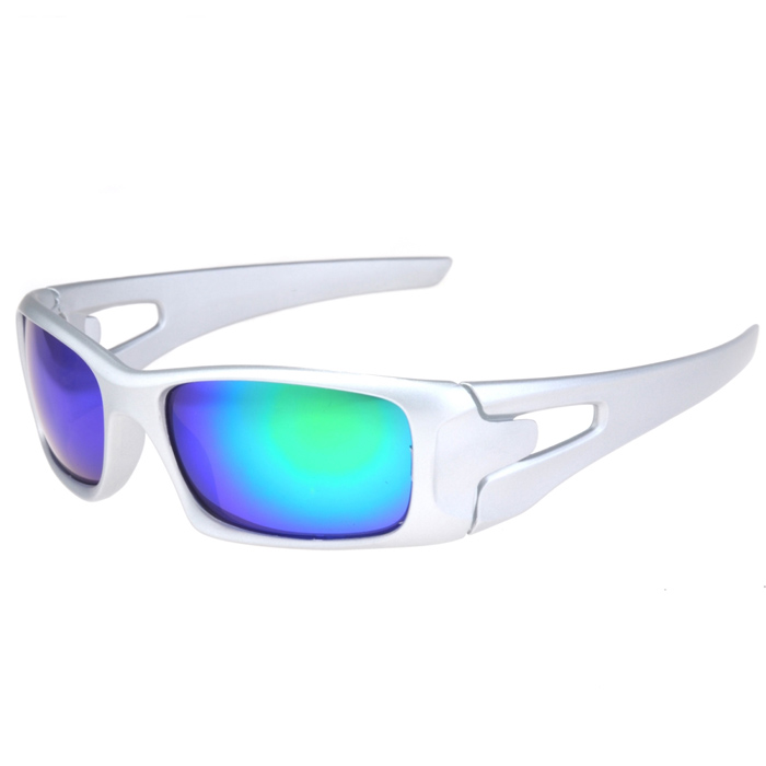 UV400 Protection PC Lens Sports Cycling Driving Sunglasses - Silver