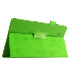 Litchi Pattern PU Case w/ Stand for Samsung Tab E 9.6 - Green