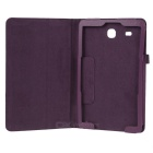 Litchi Pattern PU Case w/ Stand for Samsung Tab E 9.6 - Purple
