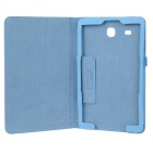 Litchi Pattern PU Case w/ Stand for Samsung Tab E 9.6 - Light Blue