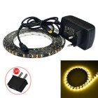 JIAWEN 12W LED Strip Light Lamp Warm White 3200K 960lm 150-SMD 3528 (DC 12V / EU Plug)