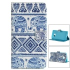 Elephant Style Case w/ Magnetic Buckle for Samsung S6 Edge Plus - Blue