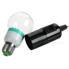 2.5W Solar Powered Dual-Bulb Lamp 6500K 360lm w/ Solar Panel - Black