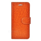 Protective PU Case w/ Stand / Card Slots for IPHONE 6 - Brown
