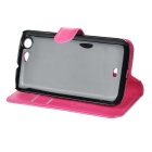 PU Case w/ Magnetic Buckle for Wiko Stairway - Red + Deep Pink