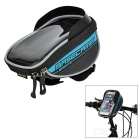 "Basecamp Bike Handlebar Mounted Touch Screen Pouch Case Bag for 5.5"" Phones - Black + Blue"
