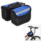 INBIKE Outdoor Cycling Oxford Bike Top Tube Double Saddle Bag - Black + Blue