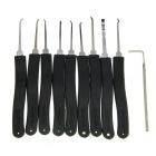 Advanced L Shape Stainless Steel Quick-Picking Lock Pick Tool Set - Black + Silver