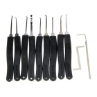 25 PCS Transparent Slotted Practice Padlock Lock Pick Set