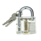 Transparent Slotted Practice Padlock Lock Picks Tool