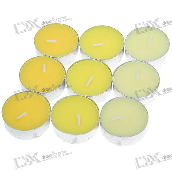 Lemon Aromatherapy Candles Set (9-Pack)