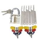 Practice Padlock Match Comb Style Stainless Steel Lock Pick + Padlock Shims