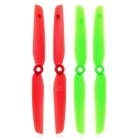 Replacement Nylon 6030 CW & CCW Propellers Set for Mini Quadcopter - Red + Green