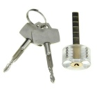 Cross Lockpick Training Lock w/ Keys - Transparent + Golden