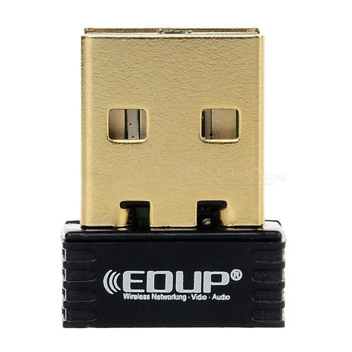 EDUP EP-N8553 USB Wireless Network Card Nano Adapter - Black + Golden